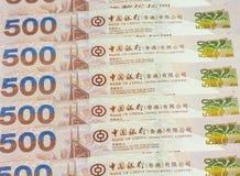 Предпосылка долларов Гонконга Стоковое Фото