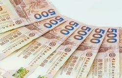 Предпосылка долларов Гонконга Стоковые Фотографии RF