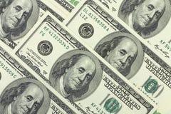 предпосылка долларов 100-доллара американская Стоковые Изображения