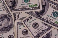 Предпосылка 100 долларов счетов Стоковое фото RF