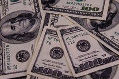 Предпосылка 100 долларов счетов Стоковая Фотография RF