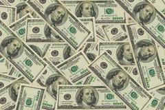 Предпосылка долларов текстуры Стоковое фото RF