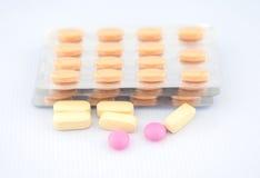 Предпосылка пакета таблетки и волдыря Стоковые Фотографии RF