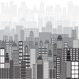 Предпосылка панорамы города Стоковая Фотография