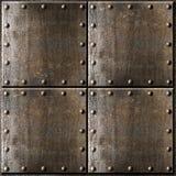 Предпосылка панцыря металла с заклепками Стоковые Фото