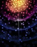 Предпосылка партии звезды Стоковые Фото