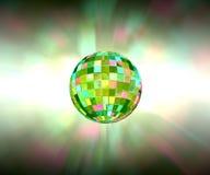 Предпосылка партии шарика диско сверкная светлая Стоковые Изображения RF