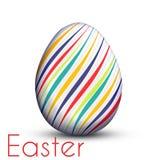 Пасхальное яйцо покрашенное с линиями цвета Стоковая Фотография RF