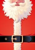 Предпосылка пальто Санта Клауса Стоковое Изображение