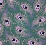 Предпосылка пера павлина Стоковое Изображение RF