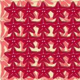 Предпосылка перемещения моря безшовная с подводными животными подныривания starfish Картина вектора акватическая, летние каникулы Стоковое фото RF
