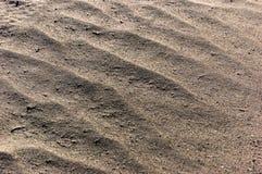 Предпосылка песка Съемка макроса текстуры песчаного пляжа Много космос экземпляра Стоковые Изображения RF