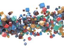 Предпосылка пестротканых кубов абстрактная Стоковое фото RF