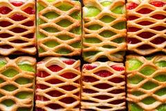 Предпосылка печенья с концом варенья вверх Стоковая Фотография