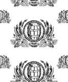 Предпосылка пива - безшовная иллюстрация штока