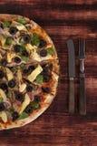 Предпосылка пиццы Стоковое фото RF