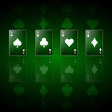 Предпосылка покера с элементами игры Стоковые Изображения