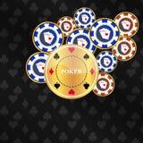 Предпосылка покера с элементами игры Стоковые Фотографии RF