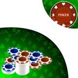 Предпосылка покера с элементами игры Стоковое Изображение