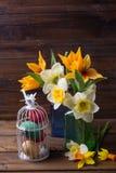 предпосылка покрасила вектор тюльпана формы пасхальныхя eps8 красный Стоковая Фотография RF