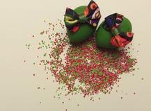 предпосылка покрасила вектор тюльпана формы пасхальныхя eps8 красный Стоковые Фотографии RF