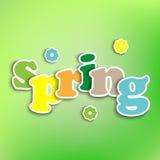 Предпосылка покрашенная весной с словами Стоковое Изображение RF