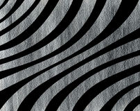 Предпосылка покрашенная серебром изогнутая striped Стоковые Фото