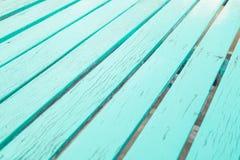 Предпосылка покрашенная синью деревянная Стоковое Изображение RF