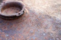 Предпосылка покрашенного ржавого листа железного листа Стоковая Фотография RF