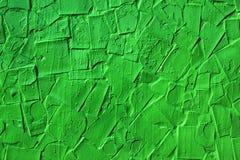 Предпосылка покрашенных зеленых сломанных плиток Стоковая Фотография