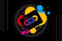 предпосылка поп-музыки 80's Стоковое Изображение RF