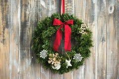 Предпосылка постаретая рождеством деревянная Стоковые Фотографии RF