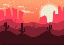 Предпосылка после полудня пустыни Стоковое фото RF