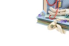 Предпосылка подарка изолированная с copyspace Handmade подарки Стоковые Фотографии RF