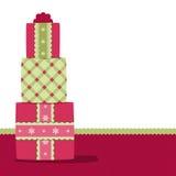 Предпосылка подарков рождества Стоковые Изображения RF