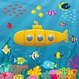 Предпосылка подводной лодки бесплатная иллюстрация