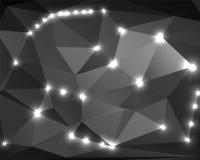 Абстрактный monochrome полигон 2 предпосылки Стоковые Изображения