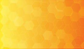 Предпосылка полигона оранжевого желтого цвета Стоковое Изображение RF