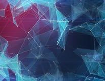 Предпосылка полигонального космоса низкая поли с треугольниками Стоковая Фотография
