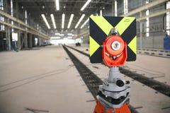 Предпосылка поднимающих вверх измеряющего прибора близкая и фабрики Стоковые Изображения RF