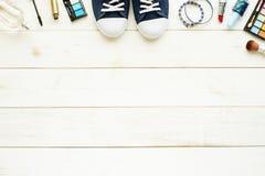 Предпосылка подростка, молодой женщины или девушки Стоковое Изображение RF