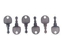 предпосылка пользуется ключом белизна металла Стоковые Фото
