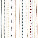 Предпосылка праздника, безшовная striped картина рождества ` s Нового Года большая иллюстрация клетки шаржа слушает детеныши прог Стоковые Изображения RF