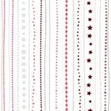 Предпосылка праздника, безшовная striped картина рождества ` s Нового Года большая иллюстрация клетки шаржа слушает детеныши прог Стоковые Фотографии RF