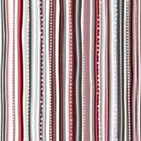 Предпосылка праздника, ретро striped картина рождества ` s Нового Года большая иллюстрация клетки шаржа слушает детеныши прогулки Стоковые Фото