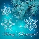 Предпосылка праздника рождества вектора голубая иллюстрация вектора