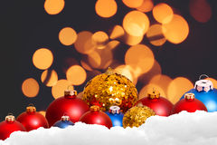 Предпосылка праздника рождества над bokeh зимы стоковые изображения
