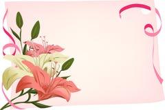 Предпосылка праздника с лилиями Стоковая Фотография