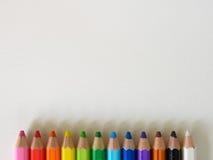 Предпосылка представления Crayon нижняя Стоковое Изображение RF