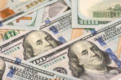 предпосылка представляет счет доллар 100 одно Стоковое фото RF
